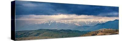 Spring Storm, Rain and Clouds in Carpathian Mountains-Maxim Weise-Stretched Canvas Print