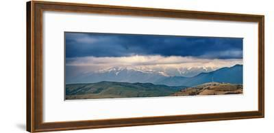 Spring Storm, Rain and Clouds in Carpathian Mountains-Maxim Weise-Framed Photographic Print