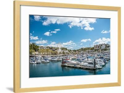 View over the Harbor and Marina of Torquay, Torbay, England, UK- Travelbild-Framed Photographic Print