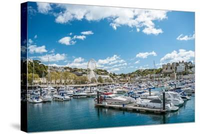View over the Harbor and Marina of Torquay, Torbay, England, UK- Travelbild-Stretched Canvas Print