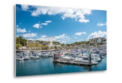View over the Harbor and Marina of Torquay, Torbay, England, UK- Travelbild-Metal Print
