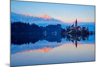 Slovenia, Bled, Lake Bled and Julian Alps, Church of the Assumption-Tuul And Bruno Morandi-Mounted Photographic Print