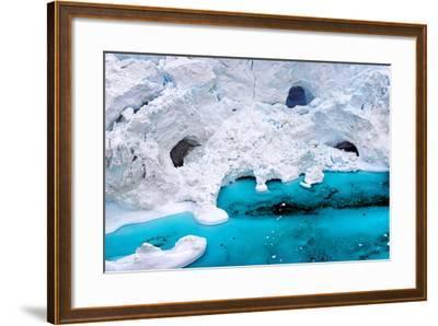 Huge Icebergs are on the Arctic Ocean to Ilulissat Fjord, Greenland-Murat Tellioglu-Framed Photographic Print