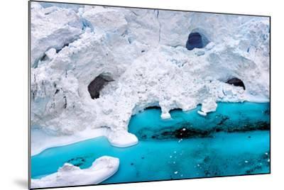 Huge Icebergs are on the Arctic Ocean to Ilulissat Fjord, Greenland-Murat Tellioglu-Mounted Photographic Print