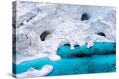 Huge Icebergs are on the Arctic Ocean to Ilulissat Fjord, Greenland-Murat Tellioglu-Stretched Canvas Print
