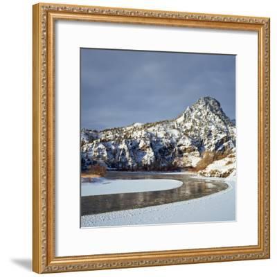 Winter Morning Along the Missouri River Near Hardy, Montana-John Lambing-Framed Photographic Print