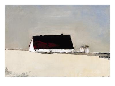 Big Barn and Silos-Sandra Pratt-Premium Giclee Print