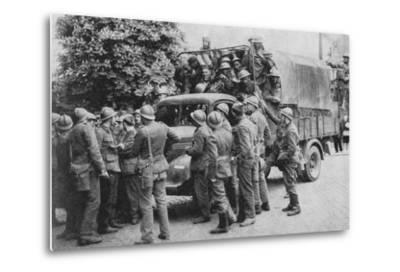 Allies Go To Belgiums Aid, 1940, (1940)--Metal Print