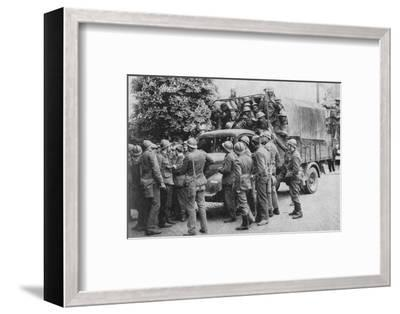 Allies Go To Belgiums Aid, 1940, (1940)--Framed Photographic Print