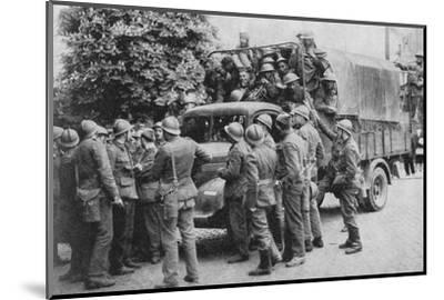 Allies Go To Belgiums Aid, 1940, (1940)--Mounted Photographic Print