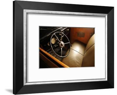 Ford woodie deluxe station wagon 1935-Simon Clay-Framed Photographic Print