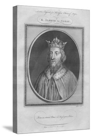 King Alfred the Great, 1785--Stretched Canvas Print
