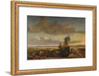 Mills on the Fens, c1853-Henry Bright-Framed Giclee Print
