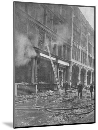 Firemen Tackle City Blaze, 1940, (1940)--Mounted Photographic Print