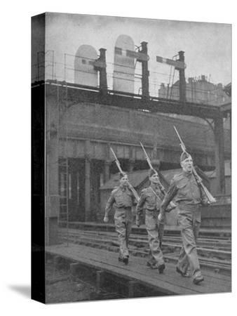 Britain on Guard, 1940, (1940)--Stretched Canvas Print