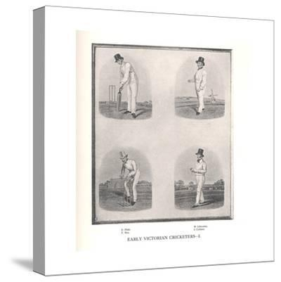 Early Victorian cricketers, 19th century (1912)--Stretched Canvas Print