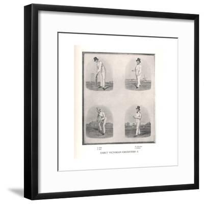 Early Victorian cricketers, 19th century (1912)--Framed Giclee Print