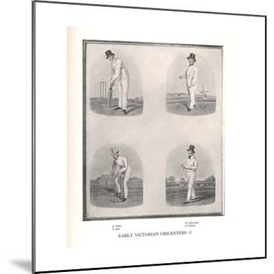 Early Victorian cricketers, 19th century (1912)--Mounted Giclee Print