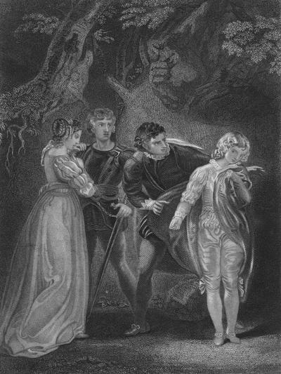 Act V Scene iv from The Two Gentlemen of Verona, c19th century--Giclee Print