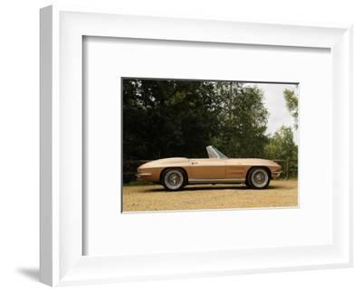 Chevrolet Corvette Stingray convertible 1964-Simon Clay-Framed Photographic Print