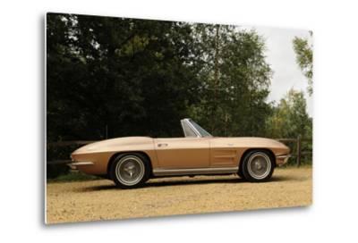Chevrolet Corvette Stingray convertible 1964-Simon Clay-Metal Print