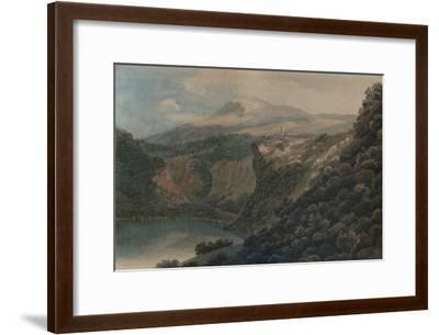 The Lake and Town of Nemi, 1778-John Robert Cozens-Framed Giclee Print
