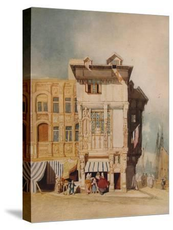 Old Houses, with Figures, c1836-John Sell Cotman-Stretched Canvas Print