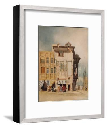Old Houses, with Figures, c1836-John Sell Cotman-Framed Giclee Print