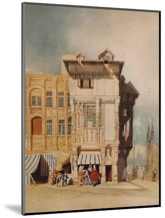 Old Houses, with Figures, c1836-John Sell Cotman-Mounted Giclee Print