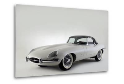 Jaguar E type 1961-Simon Clay-Metal Print