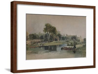 Windsor Castle from the Eton Play Ground, c1838-James Baker Pyne-Framed Giclee Print