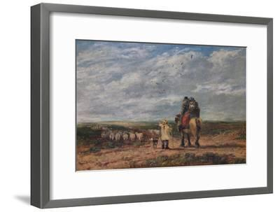 The Cross Road, 1850-David Cox the elder-Framed Giclee Print