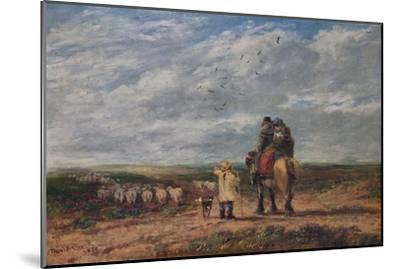The Cross Road, 1850-David Cox the elder-Mounted Giclee Print
