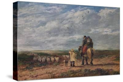 The Cross Road, 1850-David Cox the elder-Stretched Canvas Print
