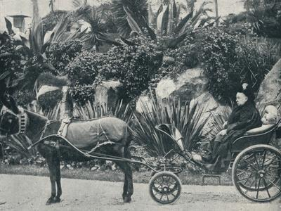 The Queen Driving in the Grounds of the Grand Hotel at Grasse During Her Holiday in the Riviera in-Alexander Lamont Henderson-Framed Photographic Print