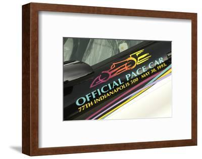 Chevrolet Camaro Indie pace car 1993-Simon Clay-Framed Photographic Print