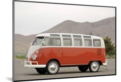 VW micro bus 1964-Simon Clay-Mounted Photographic Print