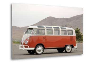 VW micro bus 1964-Simon Clay-Metal Print