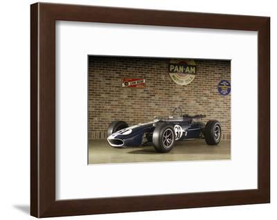 Gurney Eagle racing car 1966-Simon Clay-Framed Photographic Print