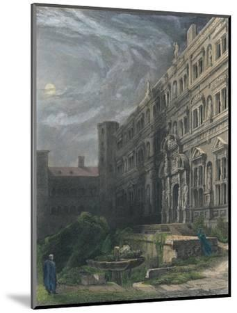 The Great Court of Heidelberg, 1834-Henry Winkles-Mounted Giclee Print