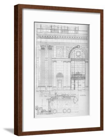 Detail of main entrance, Los Angeles Biltmore Hotel, Los Angeles, California, 1923--Framed Giclee Print