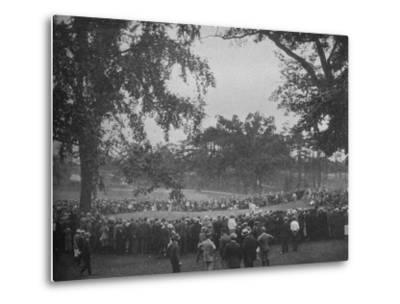 18th green, The Country Club, Brookline, Massachusetts, 1925--Metal Print
