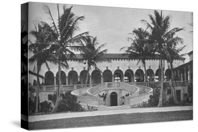 Front elevation of the clubhouse, Gulf Stream Golf Club, Palm Beach, Florida, 1925--Stretched Canvas Print