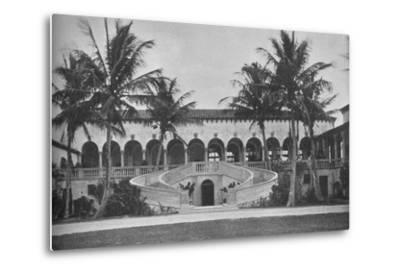 Front elevation of the clubhouse, Gulf Stream Golf Club, Palm Beach, Florida, 1925--Metal Print