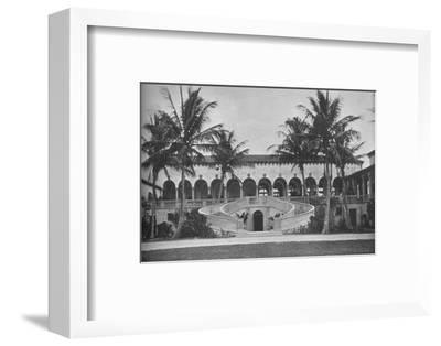 Front elevation of the clubhouse, Gulf Stream Golf Club, Palm Beach, Florida, 1925--Framed Photographic Print