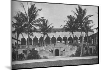 Front elevation of the clubhouse, Gulf Stream Golf Club, Palm Beach, Florida, 1925--Mounted Photographic Print