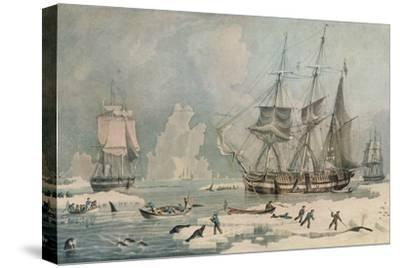Northern Whale Fishery, c1829-Edward Duncan-Stretched Canvas Print