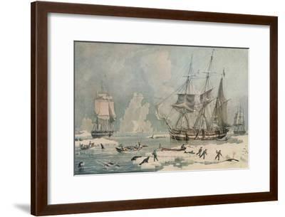 Northern Whale Fishery, c1829-Edward Duncan-Framed Giclee Print