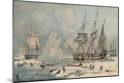 Northern Whale Fishery, c1829-Edward Duncan-Mounted Giclee Print
