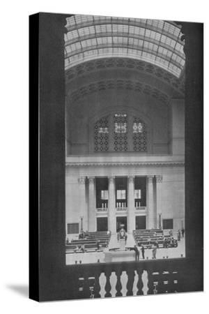 Main waiting room, Chicago Union Station, Illinois, 1926--Stretched Canvas Print